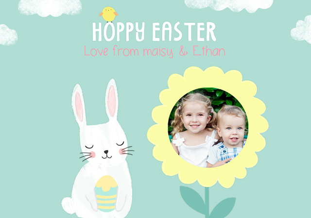 Create a Hoppy Easter Flower Photo Card