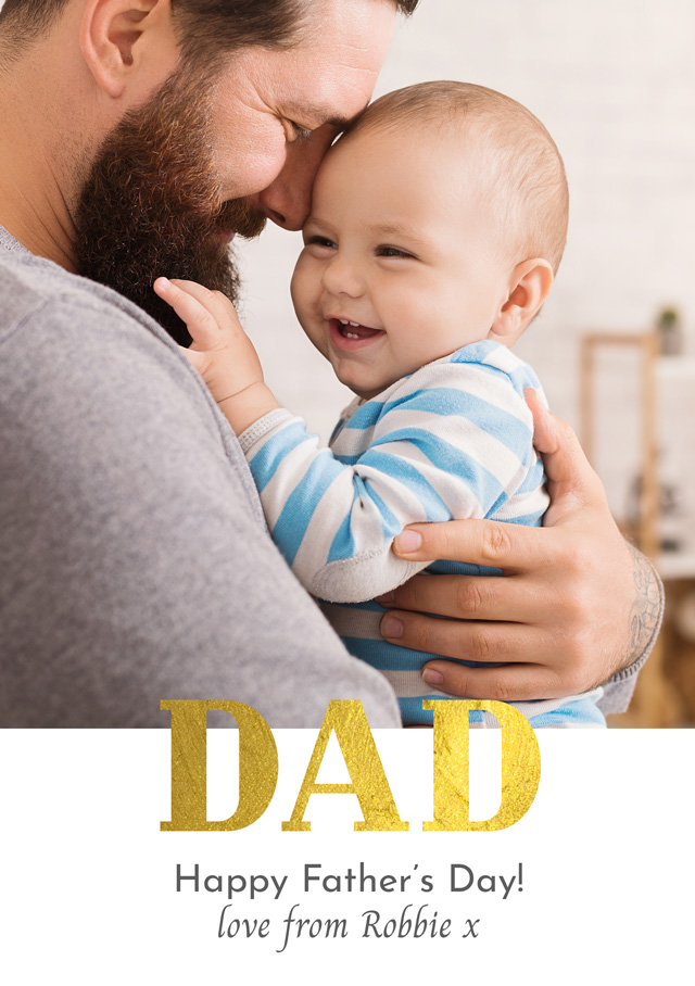 Create Photo Father's Day Card Dad Foil Card