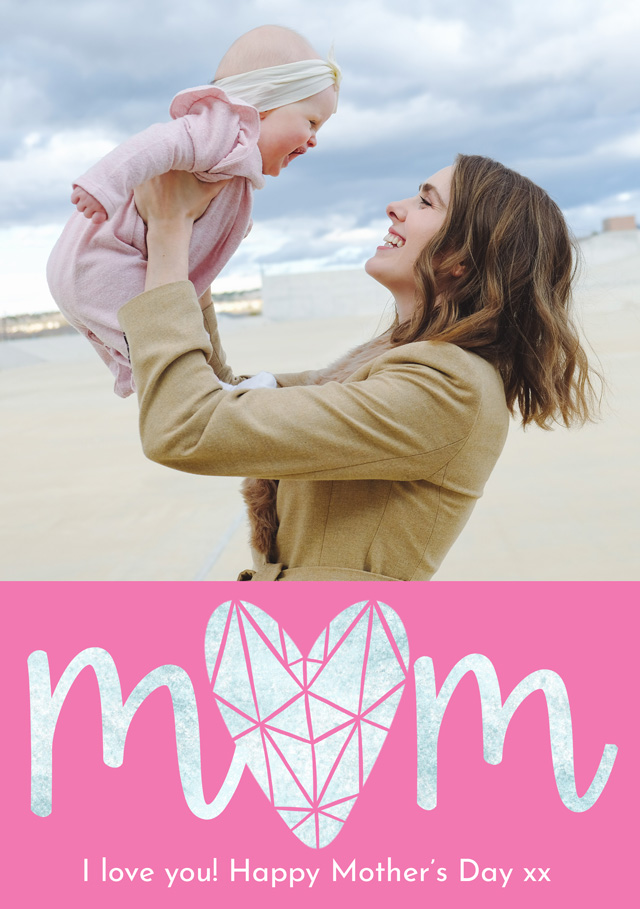 Create Photo Mother's Day Card Diamond Card