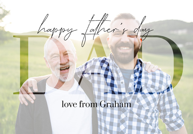 Create a Photo Father's Day Card Dad Transparent Photo Photo Card