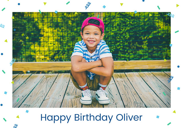 Create a Confetti Birthday  Photo Card