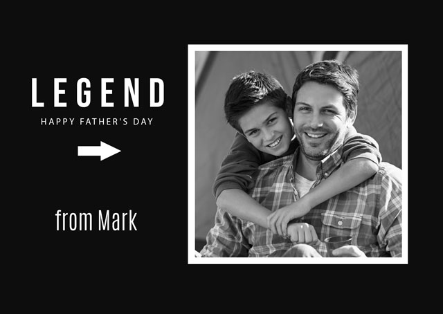 Create a Photo Father's Day Card Legend Dad Photo Card