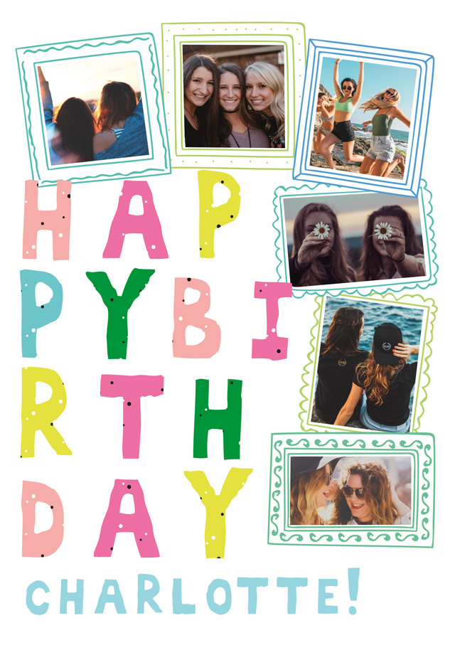 Create a Birthday Doodle Frames Photo Card