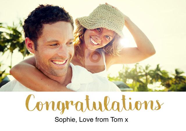 Create a Congratulations Gold Greeting Card