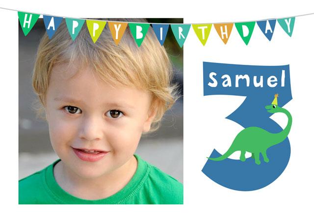 Create a Birthday 3 Greeting Card