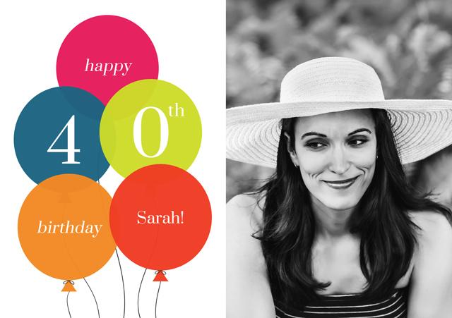 Create a Age Balloon 40 Greeting Card