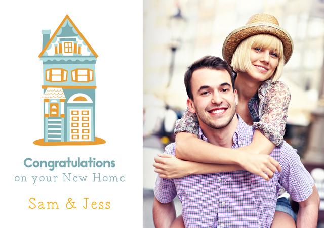 Create a Illustrated House Photo Card