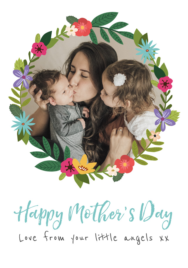 Create a Mother's Day Flower Wreath Greeting Card