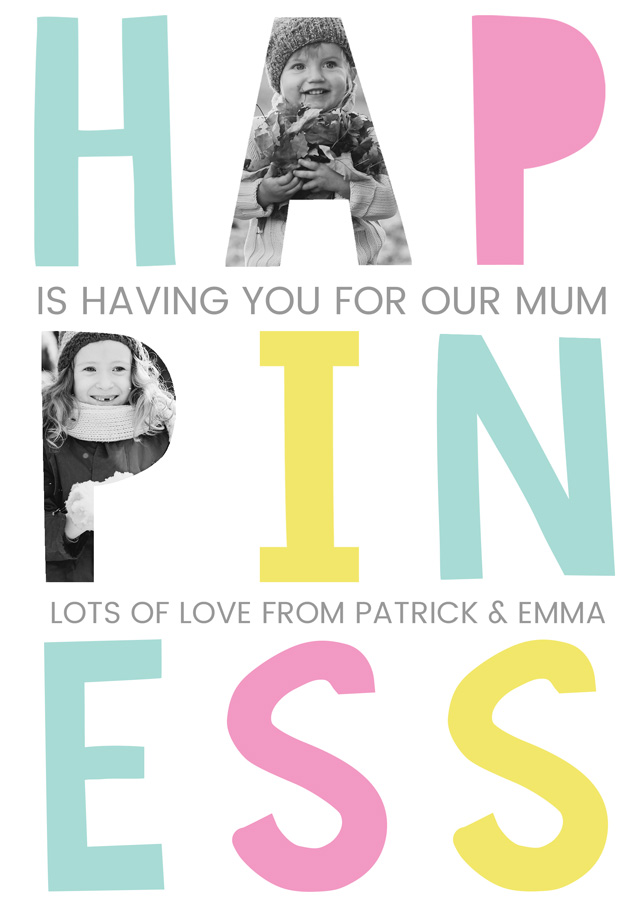 Create a Happiness Mum X2 Photo Card