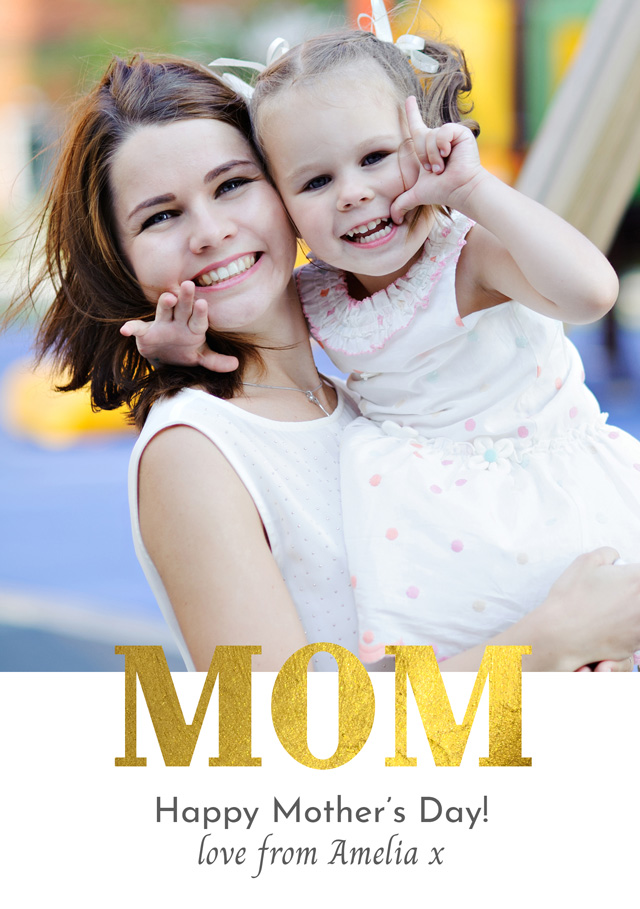 Photo Mother's Day Card Foil Mom