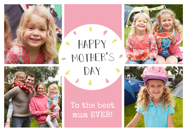 Create a Brown Collage Mothers Day  Photo Card
