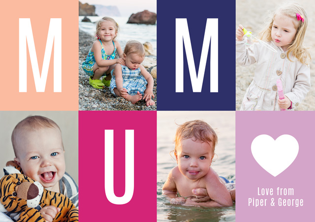 Create Photo Mother's Day Card Mum Card