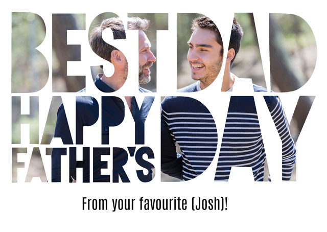 Create a Best Dad Cut Out Photo Card