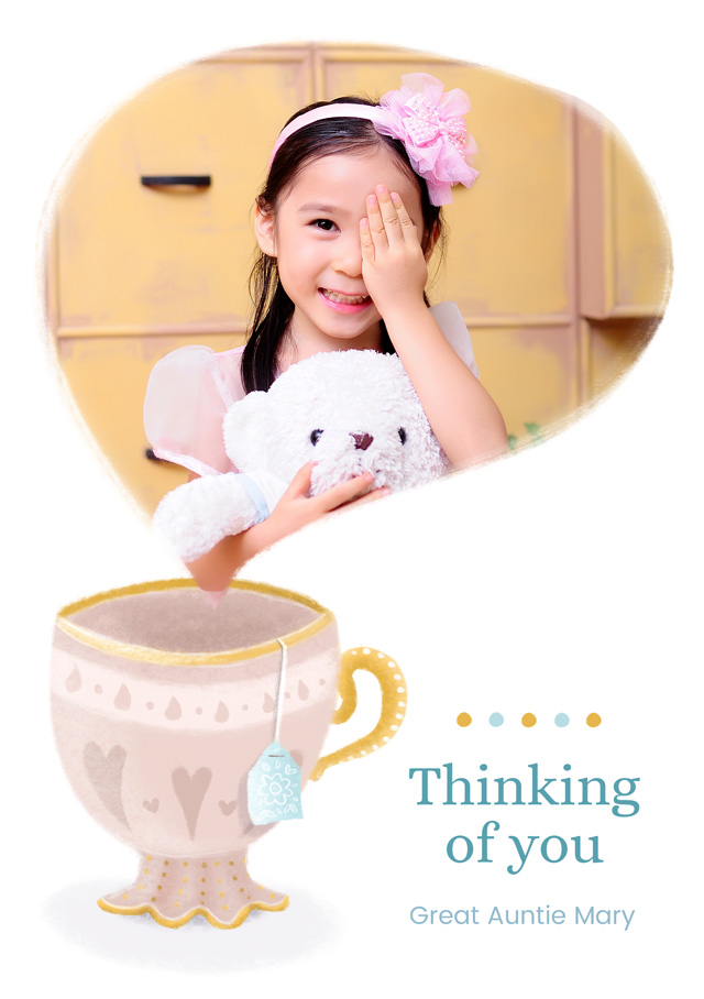 Photo Thinking Of You Card Tea Cup