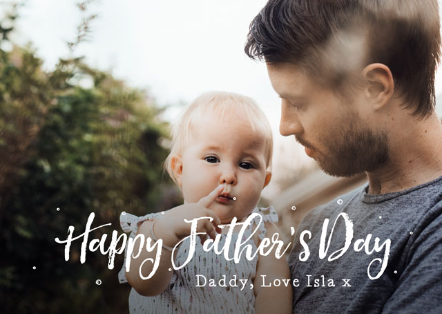 Photo Father's Day Card Landscape Script