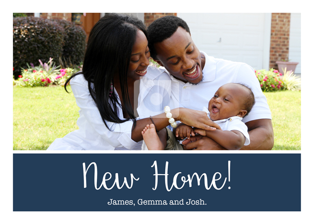 Create a New Home Plain Banner  Greeting Card