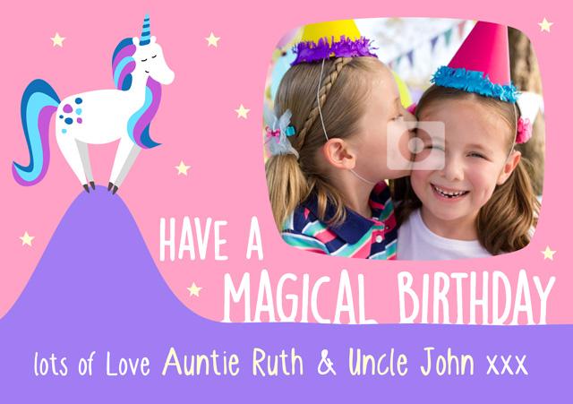 Create a Unicorn Photo Card