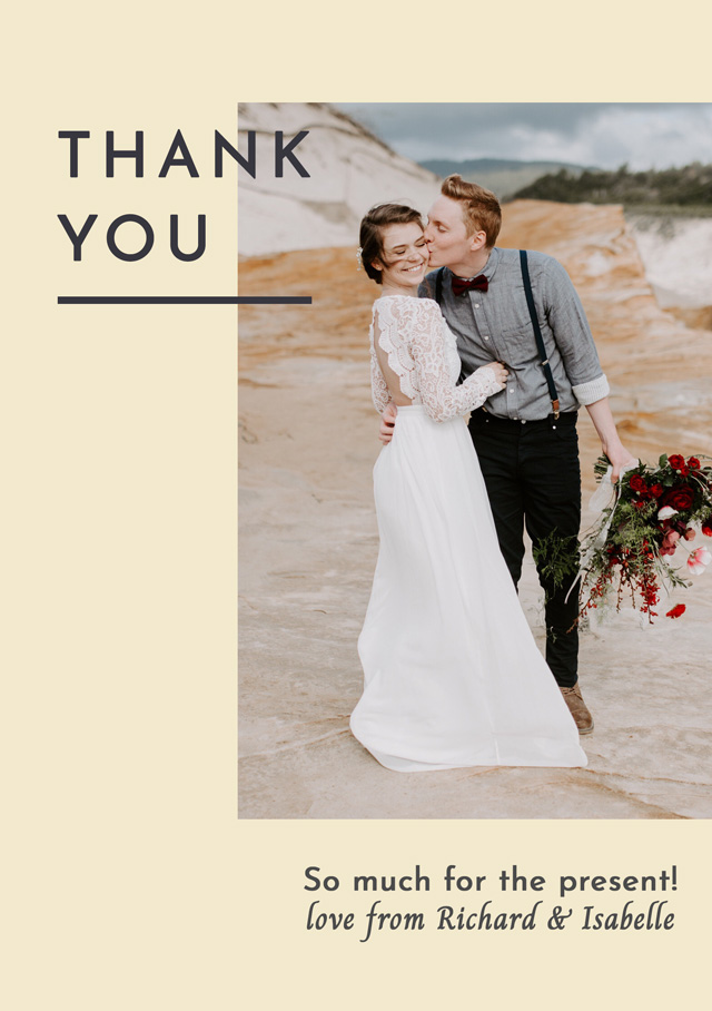 Create Photo Thank You Card Modern Side Photo Card