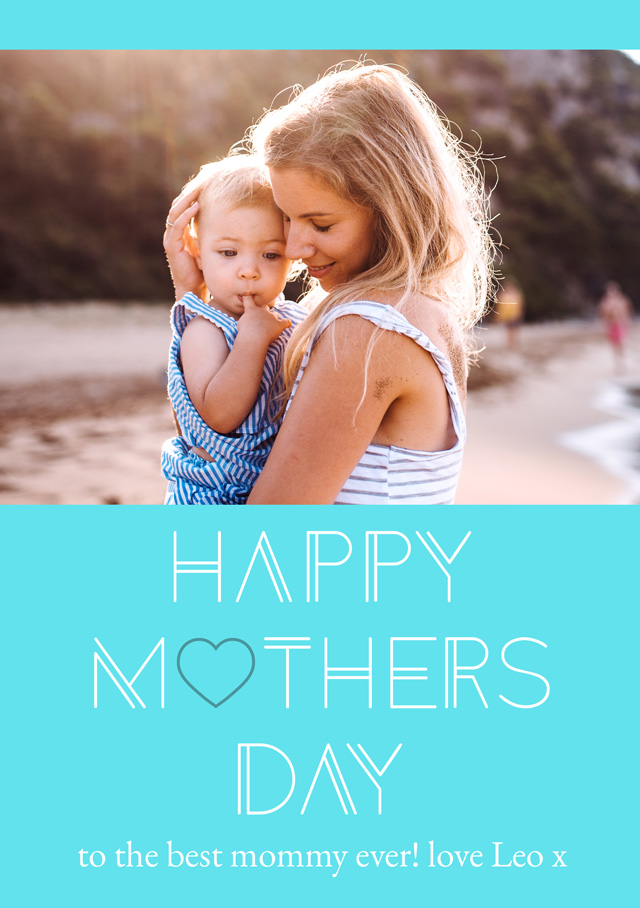 Create a Photo Mother's Day Card Happy Mother's Day Simple Heart Photo Card