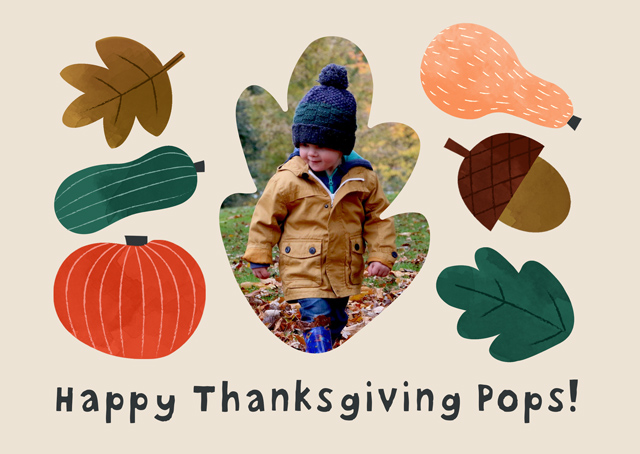 Create a Thanksgiving Leaves Photo Card