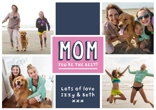 Create Mom Collage (Usa) X4 Card