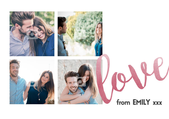 Create a 4 Love Collage Greeting Card