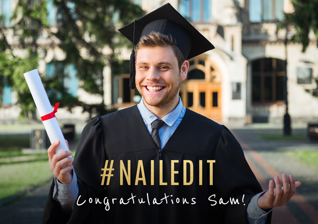 Create a #Nailedit Greeting Card