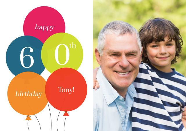 Create a Age Balloon 60 Greeting Card