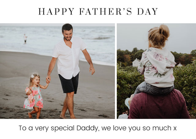 Create a Father's Day Serif Photo Card