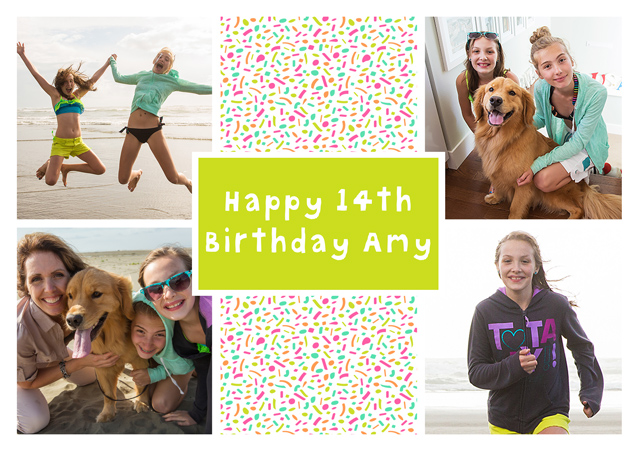 Create a Collage Dotty Photo Card
