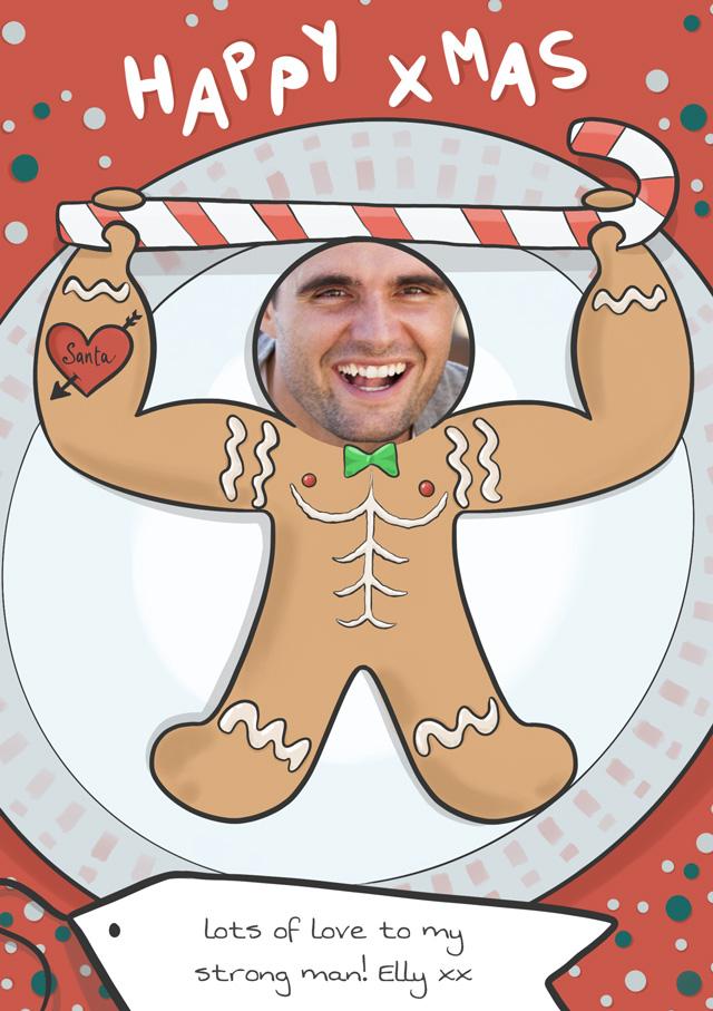 Create a Photo Christmas Card Gingerbread Man Photo Card