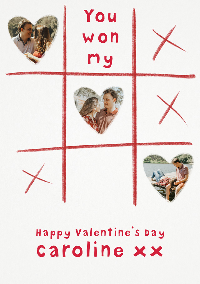 Create a You Won My Heart Greeting Card