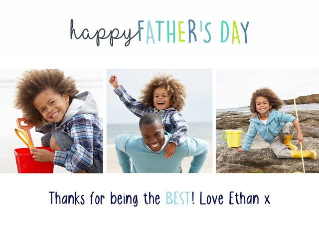 Create a 3 Collage Father's Day Greeting Card