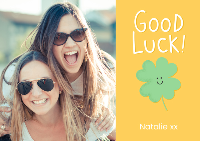 Create a Good Luck Photo Card