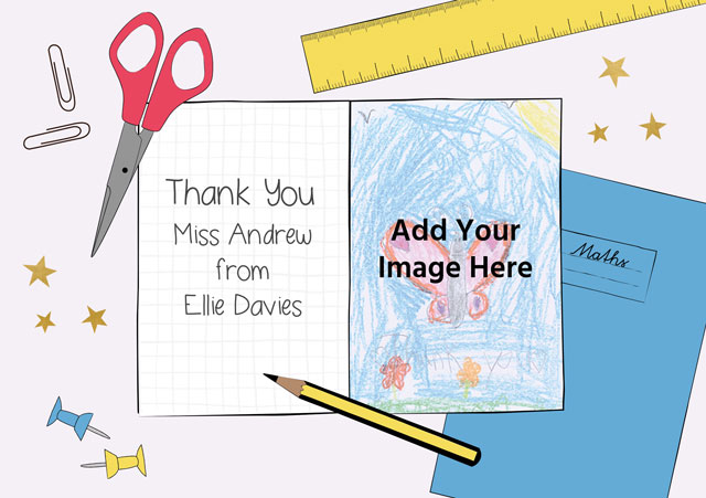 Create a Thank You Teacher Greeting Card