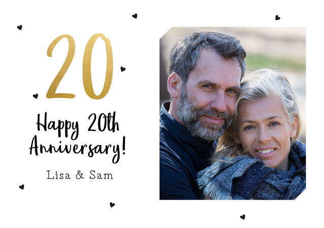 Create a 20th Anniversary  Photo Card