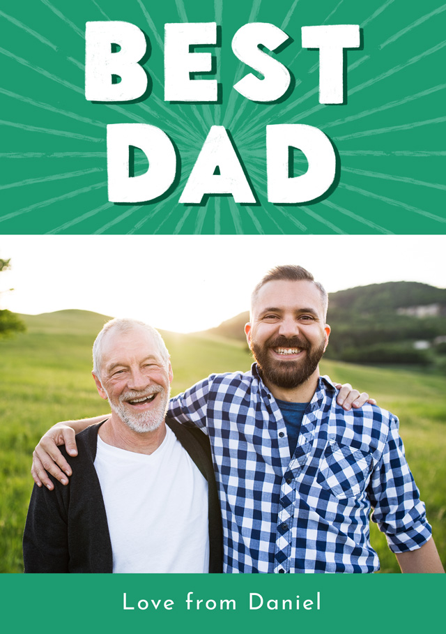 Create Photo Father's Day Card Best Dad Card