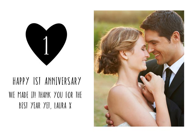 Create a 1 St Wedding Anniversary Greeting Card