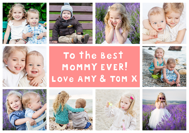 Create a 10 Collage Mommy Usa Photo Card