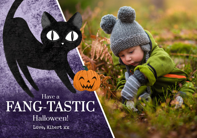 Create Halloween Cat Card