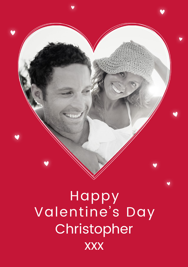 Create a Red Valentines Heart Greeting Card