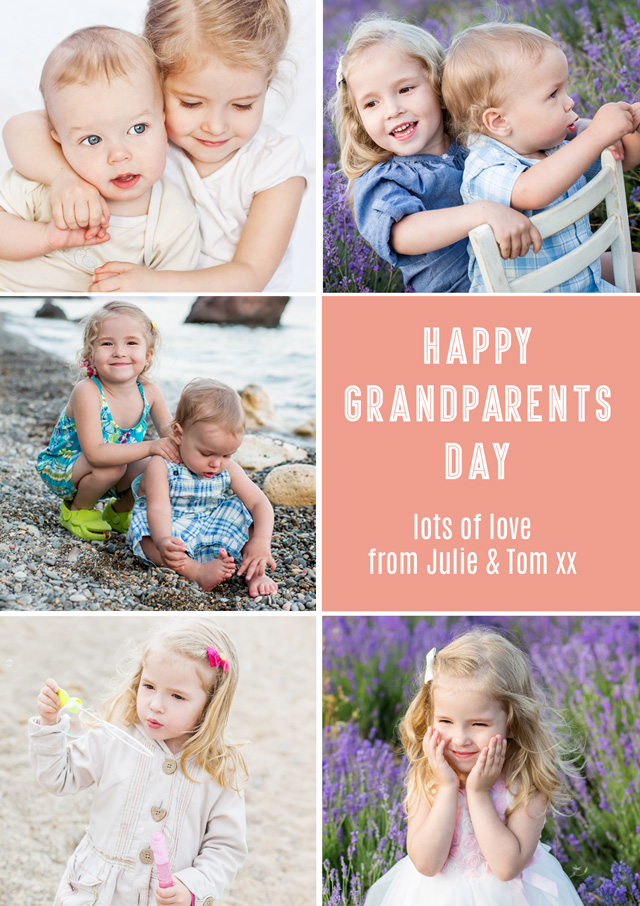 Create a 5x Collage Grandparents Greeting Card