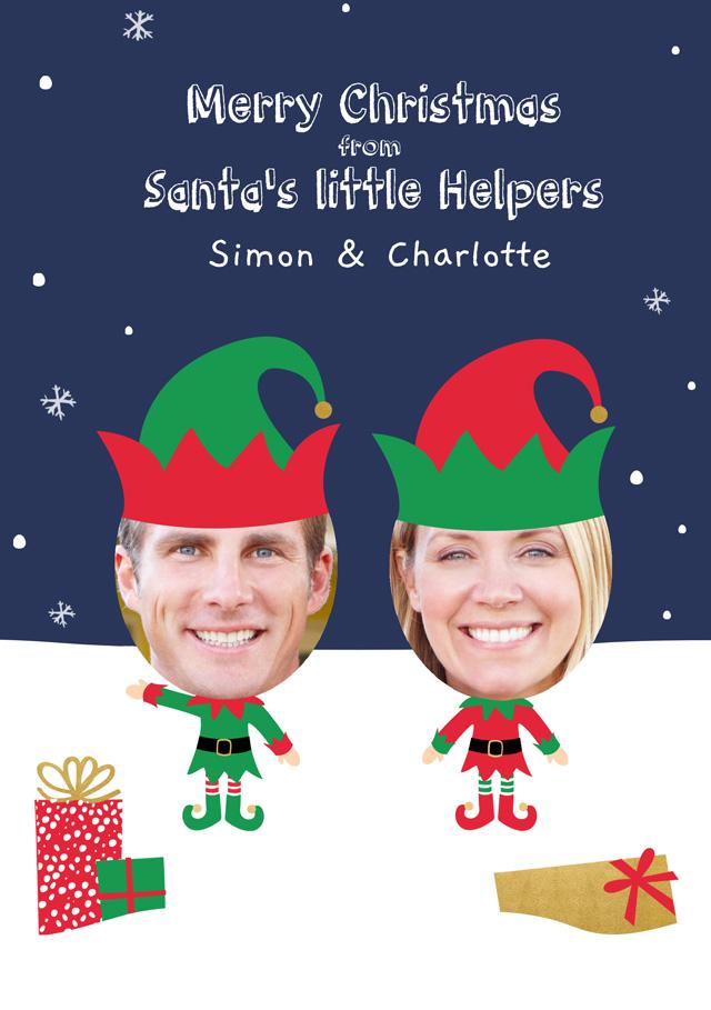Create a Photo Christmas Card Elf X2 Photo Card