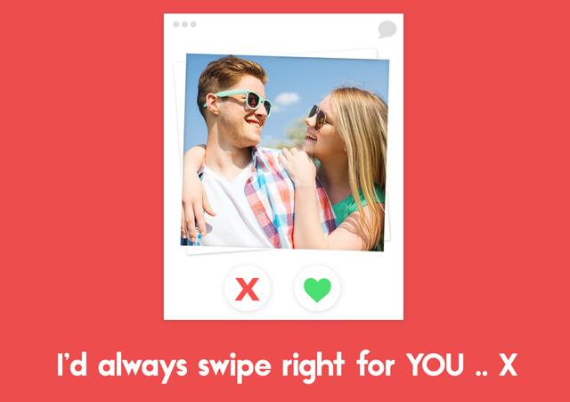 Create a Tinder  Greeting Card
