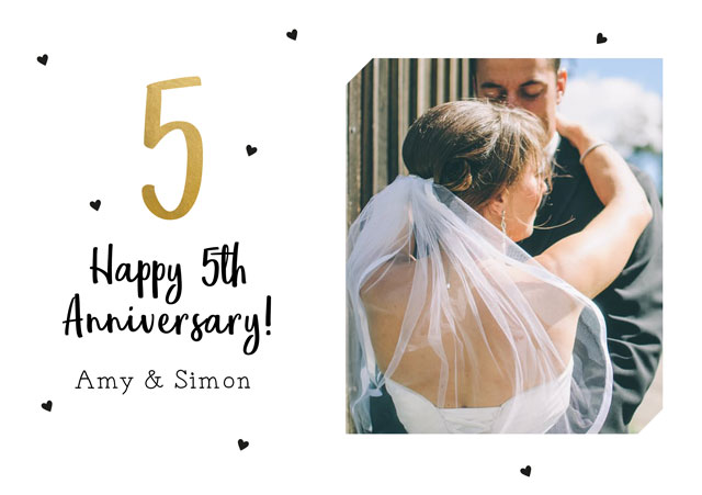 Create a 5 Anniversary Photo Card