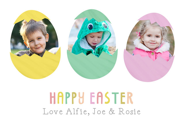 Photo Easter Card Easter Eggs