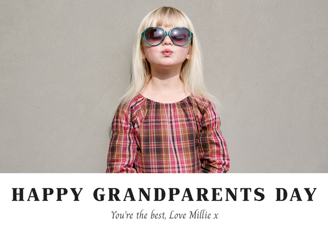 Create a New Photo Card Grandparents Day   Design 9 Photo Card