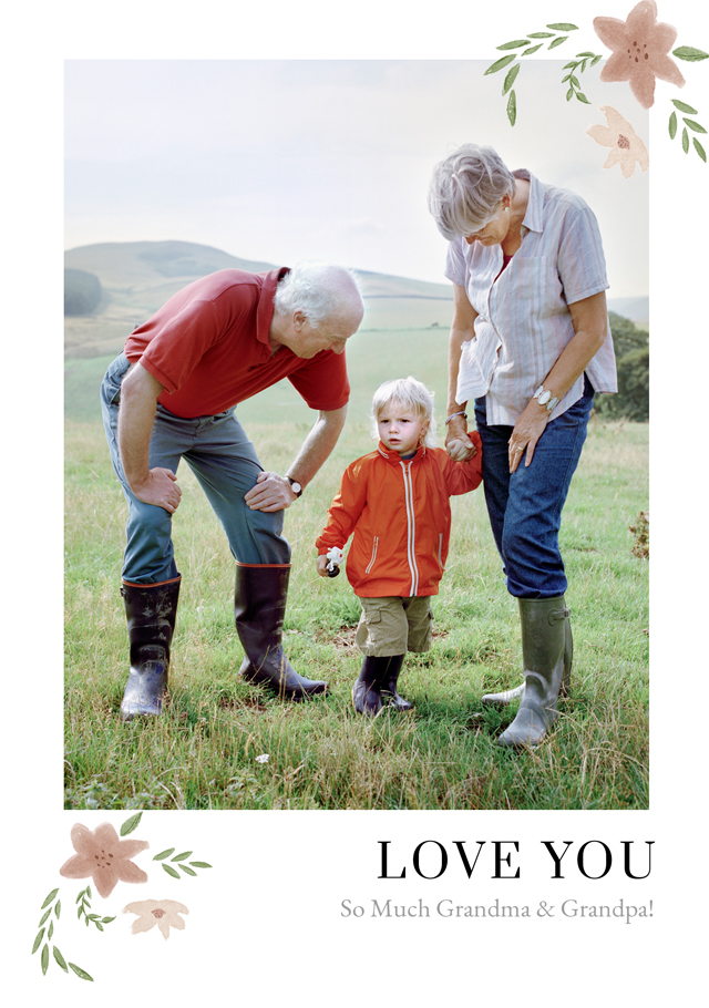 Create New Photo Card Grandparents Day   Design 12 Card