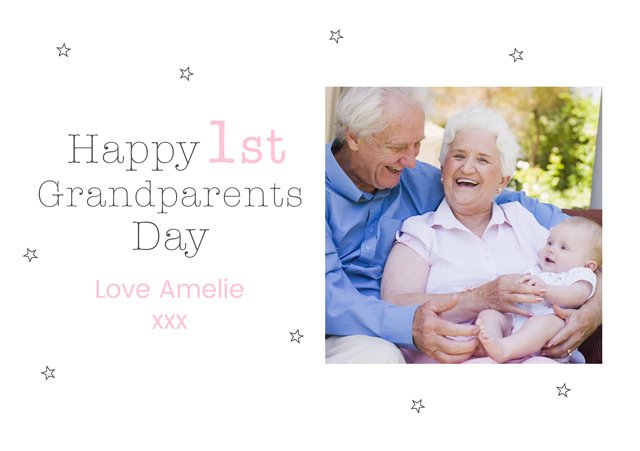 Create a 1st Grandparents Day Greeting Card