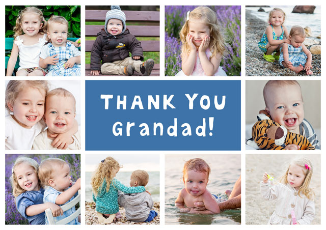 Create a Photo Thank You Card Collage 10 Photos Photo Card
